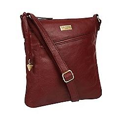 Cultured London - Ruby Red  Bronwyn  Leather Cross Body Bag 4eee425f0c