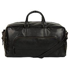 Pure Luxuries London - Black 'Giambino' Italian-inspired leather holdall