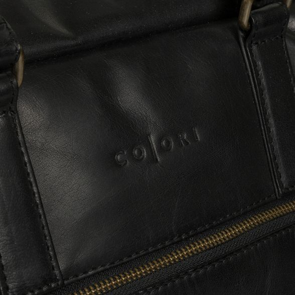 leather 'Giambino' Luxuries Pure Black inspired holdall Italian London tdYYwq