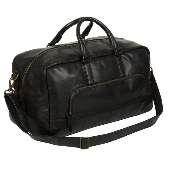 London Black Pure holdall inspired Italian leather 'Giambino' Luxuries 5Z6wxq6R