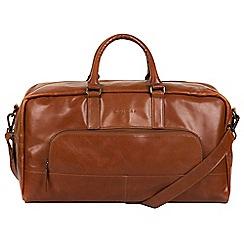 Pure Luxuries London - Chestnut 'Giambino' Italian-inspired leather holdall