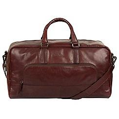 Pure Luxuries London - Brown 'Giambino' Italian-inspired leather holdall