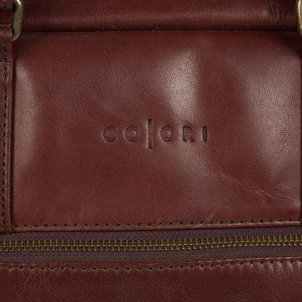 Italian Luxuries 'Giambino' Pure London leather inspired holdall Brown wUIpxqZ