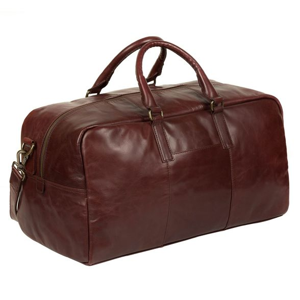 Pure Italian inspired Brown Luxuries London leather holdall 'Giambino' FqSWFr