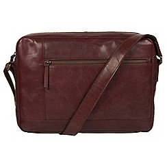 Conkca London - Brown 'Imola' Italian-inspired leather messenger bag