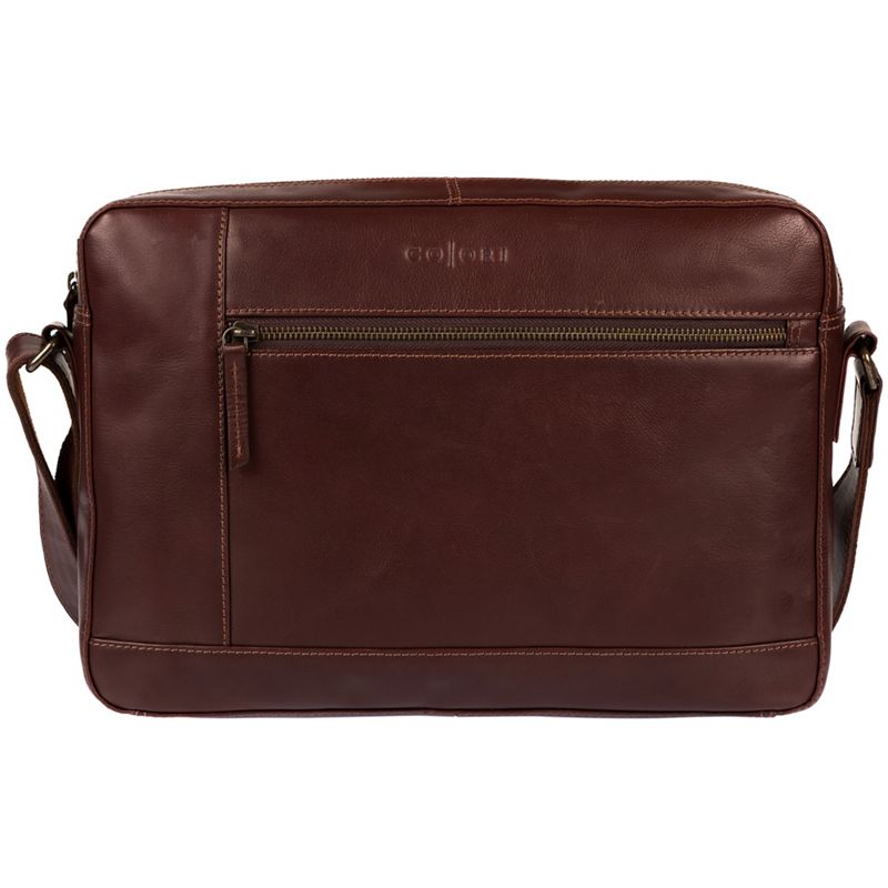 Pure Luxuries London - Brown Imola Italian-Inspired Leather Messenger Bag