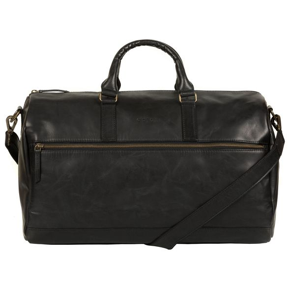 holdall leather Pure Black 'Lucca' London inspired Luxuries Italian qYAqw08
