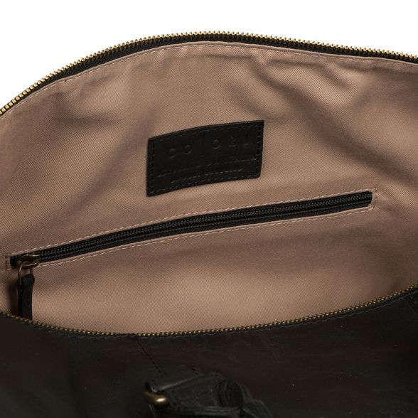 Luxuries 'Lucca' Black Italian Pure inspired London leather holdall Fvqxqg