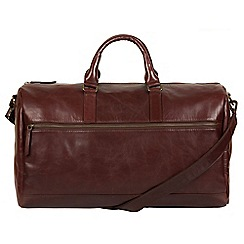 Pure Luxuries London - Brown 'Lucca' Italian-inspired leather holdall