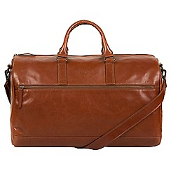 Pure Luxuries London - Chestnut 'Lucca' Italian-inspired leather holdall