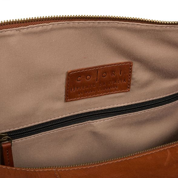 holdall Chestnut leather inspired Luxuries 'Lucca' London Pure Italian Uvwx8P70q