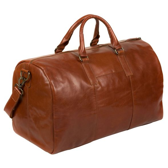 leather Pure Luxuries 'Lucca' London Chestnut inspired Italian holdall zTYATqxw