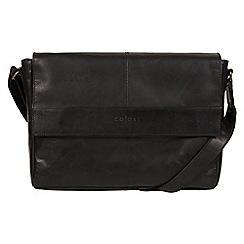 Pure Luxuries London - Black 'Maldini' Italian-inspired leather messenger bag