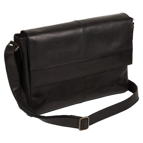 Pure leather Luxuries 'Maldini' London Italian messenger bag inspired Black 4nUw4Bqr