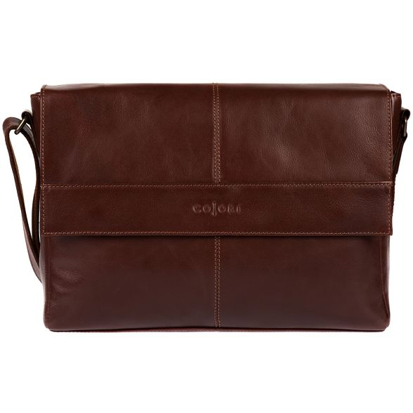 Pure inspired bag 'Maldini' Brown messenger leather Luxuries London Italian n6nfp
