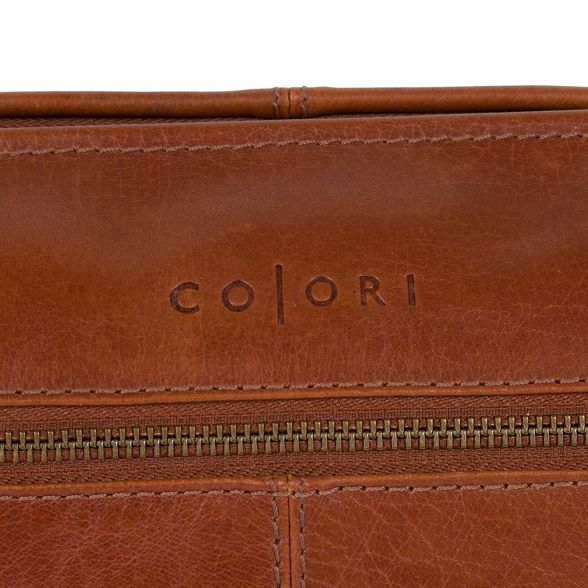 inspired leather washbag 'Morano' Italian Chestnut Luxuries London Pure qfXBA