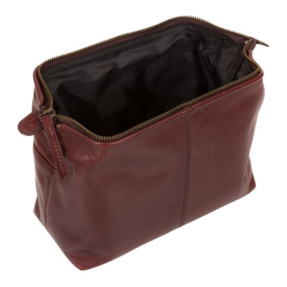 brown London Pure Luxuries leather 'Morano' Italian inspired Italian washbag PSxtqw
