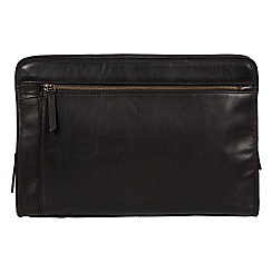 Pure Luxuries London - Black 'Pirlo' Italian-inspired leather document case