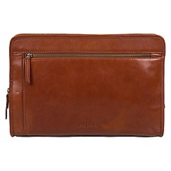 Pure Luxuries London - Chestnut 'Pirlo' Italian-inspired leather document case