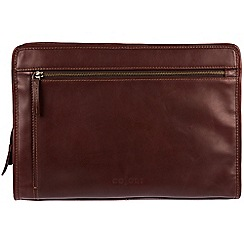 Pure Luxuries London - Brown 'Pirlo' Italian-inspired leather document case