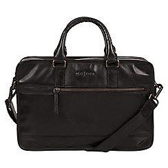 Pure Luxuries London - Black 'Travisso' Italian-inspired work bag