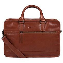 Pure Luxuries London - Chestnut 'Travisso' Italian-inspired leather work bag