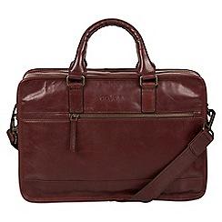 Pure Luxuries London - Italian brown 'Travisso' Italian-inspired work bag