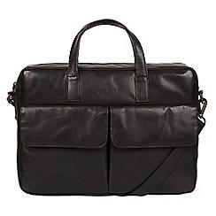 Pure Luxuries London - Black 'Vasto' Italian-inspired leather work bag