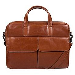 Pure Luxuries London - Chestnut 'Vasto' Italian-inspired leather work bag