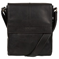 Pure Luxuries London - Black 'Zoff' Italian-inspired leather despatch bag