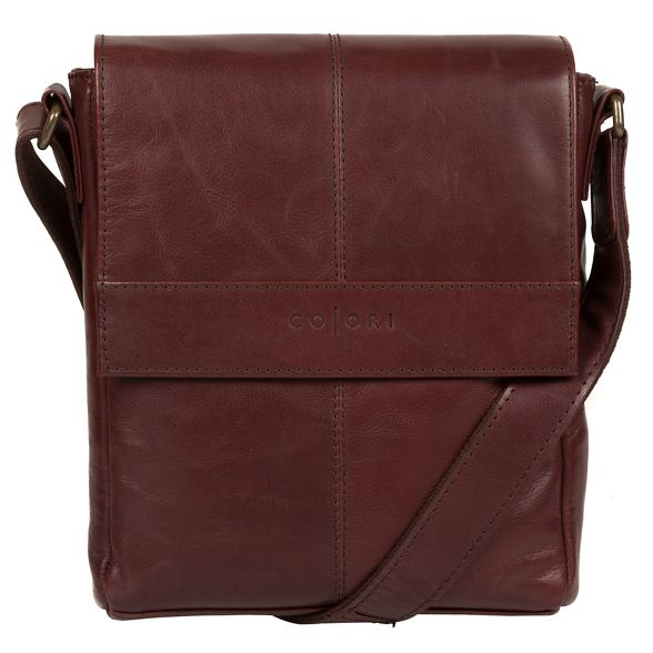 Pure Brown 'Zoff' leather London Luxuries inspired bag despatch Italian rBqHr