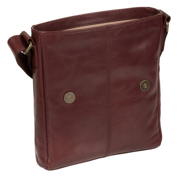 leather Luxuries inspired Brown London Italian bag despatch 'Zoff' Pure qfvxYv