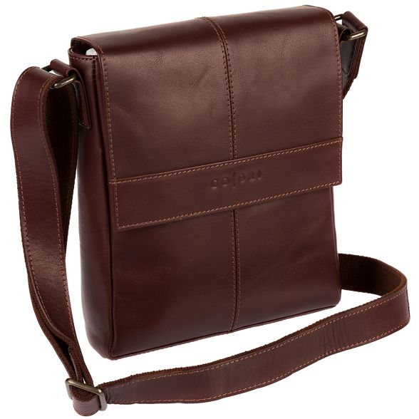 Pure Italian London Brown inspired Luxuries bag 'Zoff' despatch leather 6qrwp6Ix