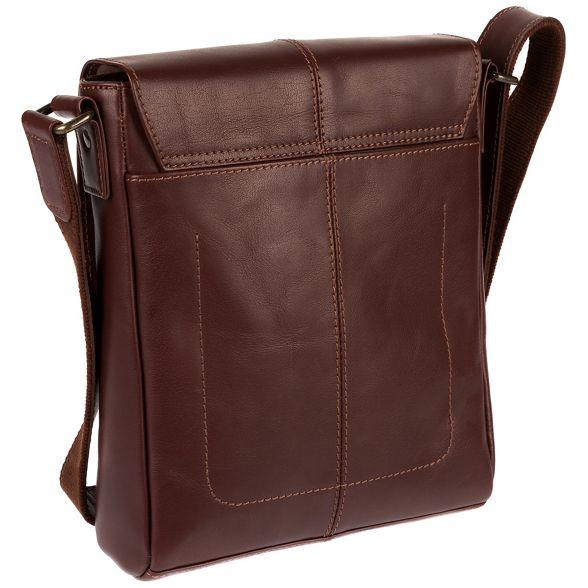 Luxuries Brown London bag inspired Italian 'Zoff' Pure leather despatch RaHqw4HdE