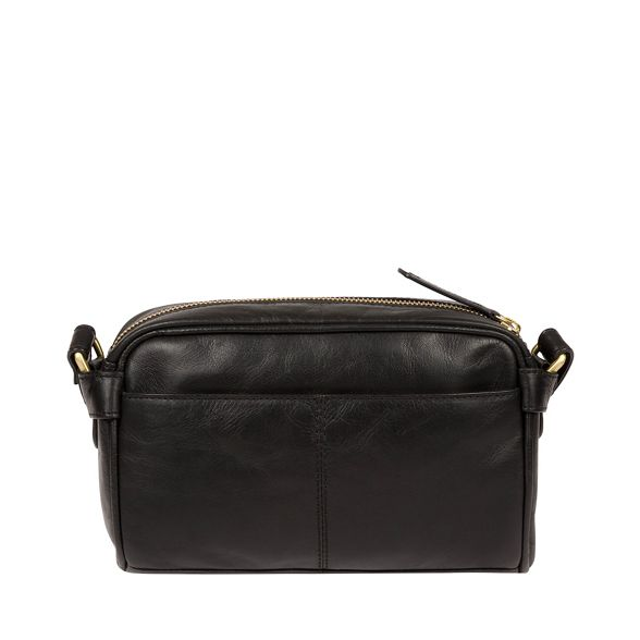 bag Inspired 'Rivoli' Pure body London Luxuries Black Italian leather cross zfxvOqH