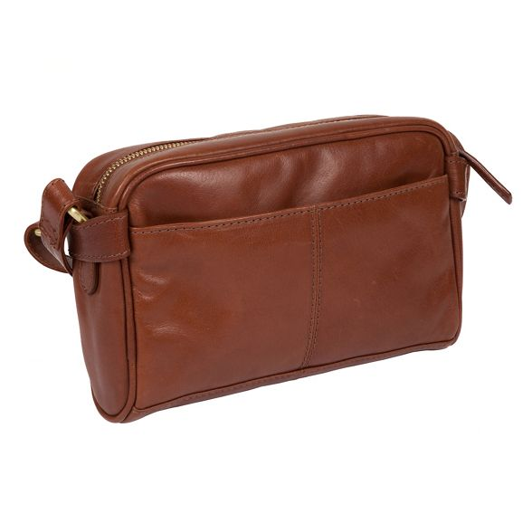 Inspired cross Pure leather Italian 'Rivoli' bag Luxuries Chestnut London body FrFZX