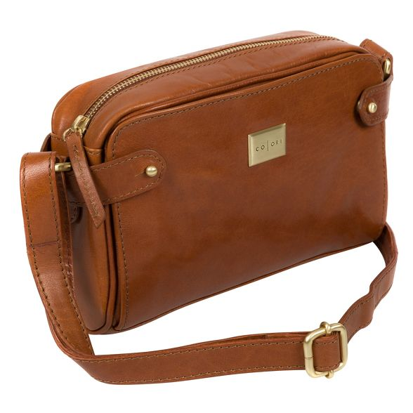 body cross Pure tan Luxuries London leather 'Rivoli' Italian inspired bag Italian xUUzp8r