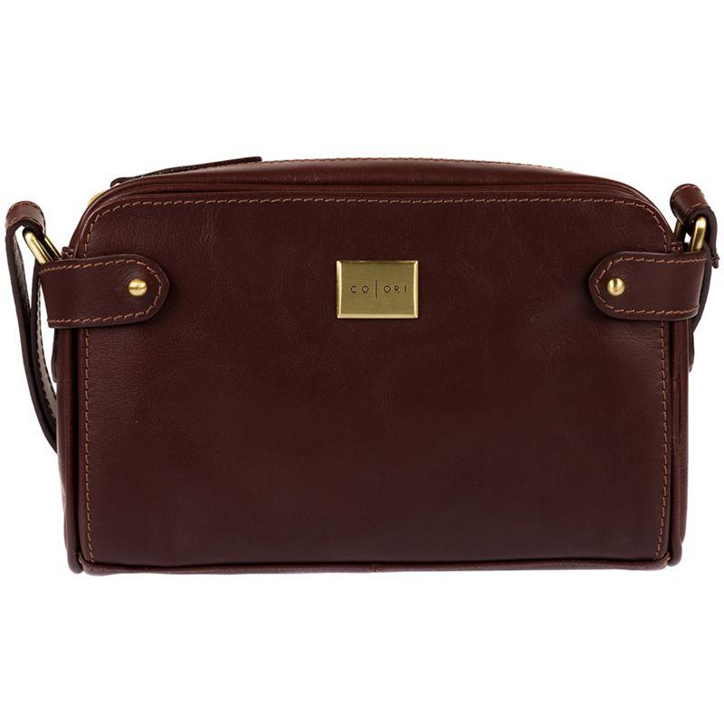 Pure Luxuries London - Brown Rivoli Italian-Inspired Leather Cross-Body Bag