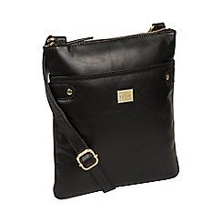 Pure Luxuries London - Black 'Siena' Italian-inspired leather cross-body bag