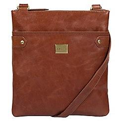 Pure Luxuries London - Chestnut 'Siena' Italian-inspired leather cross-body bag
