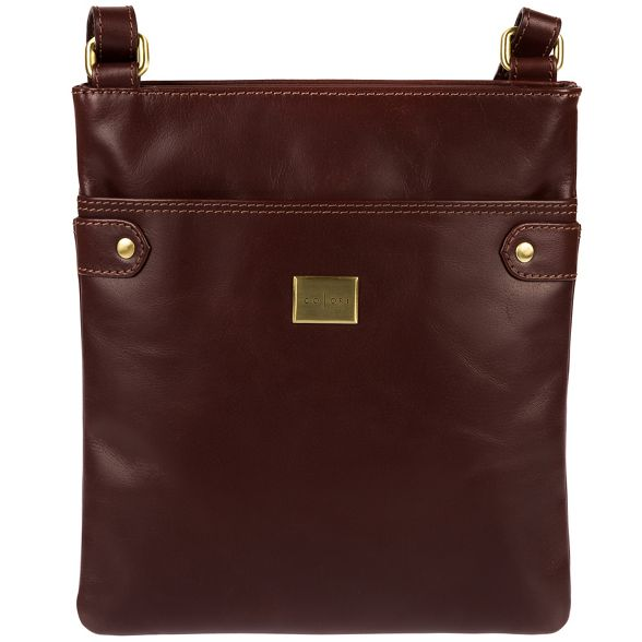 inspired 'Siena' Pure Italian Brown body Luxuries London bag leather cross ZqwXTgC