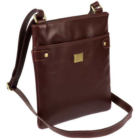 body inspired Luxuries cross leather Pure 'Siena' bag Brown London Italian PnOwv4