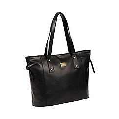Pure Luxuries London - Black 'Mazara' Italian-inspired leather shoulder bag