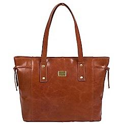 Pure Luxuries London - Chestnut 'Mazara' Italian-inspired leather shoulder bag