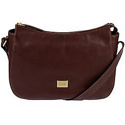 Pure Luxuries London - Brown 'Enna' Italian-inspired leather hobo bag