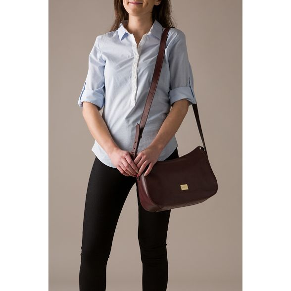 inspired Luxuries Pure Italian leather 'Enna' London Brown bag hobo g6qzXqdS