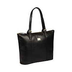 Pure Luxuries London - Black 'Bianca' Italian-inspired leather tote bag