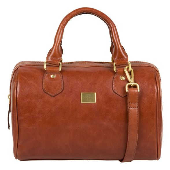 London handbag Chestnut Pure eather inspired 'Arona' Luxuries Italian 5Ezqqw07x