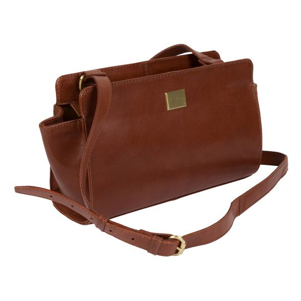 inspired 'valentina' Chestnut cross body italian Luxuries London brown Pure bag XvqwaxEt