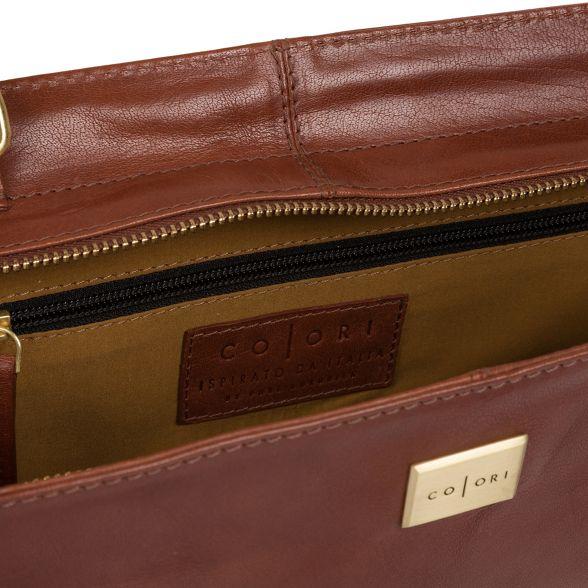 Chestnut Luxuries cross Pure body inspired 'valentina' brown London bag italian 0dxHqgEHw